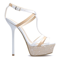Woven stiletto sandals