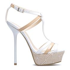 Woven stiletto sandals