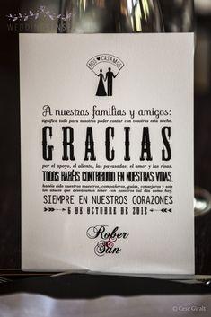 Idea para dar las gracias a vuestros invitados #boda #wedding #decoracion #inspiracion
