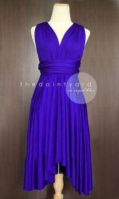 Royal Blue Bridesmaid Convertible Dress Infinity by thedaintyard