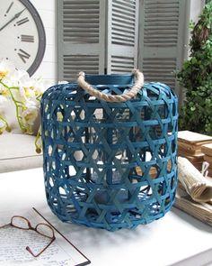Lanterna fusion turquoise - d.cm.35xh.38 (56.2209)