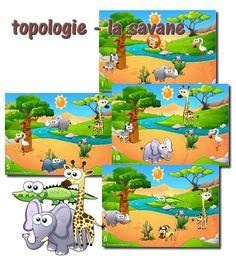 Topologie - la savane Safari Party, Jungle Safari, English Activities, Preschool Activities, Primary School, Elementary Schools, Dear Zoo, Black Wallpaper Iphone, Teaching French
