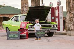 Our hot rod baby announcement! Baby #2--- assistant mechanic needed