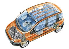 Fiat Multipla 1998. - 2010. Automobile, Fiat 600, Fiat Abarth, Steyr, Station Wagon, Cars And Motorcycles, Baby Strollers, Vehicles, Cars