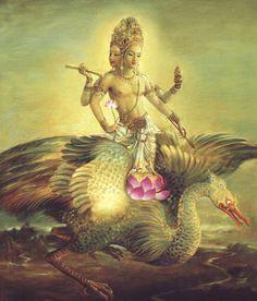 Hindu God: Brahma the Creator Hindu, Hindu Art, Indian Art, Deities, Mythology, Hinduism, Shaivism, Thai Art, Krishna Art