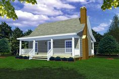 This 1 story Cottage features 600 sq feet. Call us at 866-214-2242 to talk to a House Plan Specialist about your future dream home!