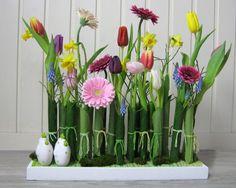 Bloemschikken februari 2013 - bloemstuk 2