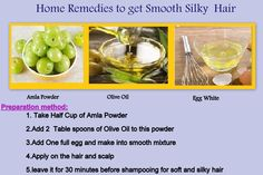 Home Remedy for Smooth & Silky Hair