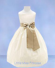 flower girl idea (ivory w/colored sash)