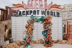 Rust orange and teal floral design | Image by Jordan Jankun Photography Wedding Blog, Wedding Day, Neon Museum, Rust Orange, Spring Blooms, Elopement Inspiration, Floral Wedding, Floral Design, Floral Wreath