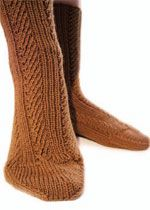 Free Pattern Diagonal Rib Socks Here is a sock pattern by Ann Bud - a great designer for easy-to-follow patterns. Socks look delicate, are stretchy, and fit well.