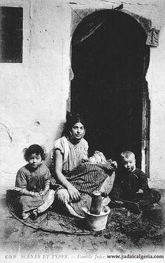 Femme juive d algerie et ses enfants