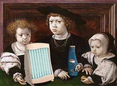 Jan Gossaert, Die anämischen Kinder Christian II. von Norwegen, Dänemark und Schweden (1526) – Nivea Sonnenmilch, Efbe-Schott GB Gesichtssolarium