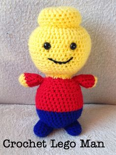 The Perfect Hiding Place - Free pattern, Crochet Amigurumi Lego man #Crochet #Amigurumi #Lego #FREEpattern