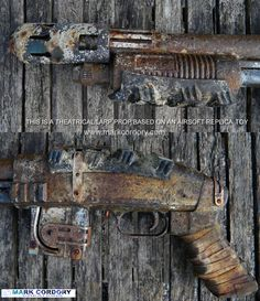 Post Apocalyptic LARP Airsoft toy gun. Paint effects and ageing by Mark Cordory Creations. www.markcordory.com