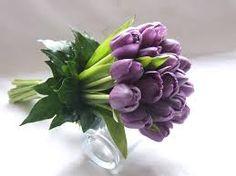 spring wedding bouquet purple silver gerbera tulips - Google Search