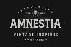 Amnestia is a vintage serif typeface with a modern-classic feel. Inspired by vintage signage and minimalist serif style, Amnestia is an all-caps fon Serif Typeface, Script Logo, Typography Fonts, Modern Serif Fonts, All Caps Font, Premium Fonts, Premium Logo, All Fonts, School Design