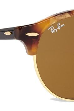 9efd942d311 Ray-Ban - Clubround Acetate And Gold-tone Sunglasses - Tortoiseshell