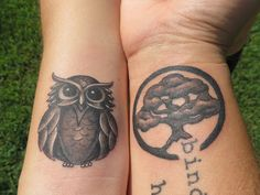 """""""If you were a bird, then I'd be a tree; and you would come home, my darling, to me."""" JJ Heller  Anniversary Tattoos"""