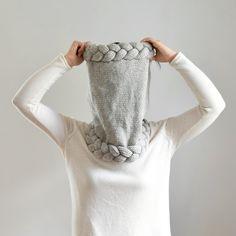 Bufanda capucha Super grueso Cable Knit bufanda por IRISMINT