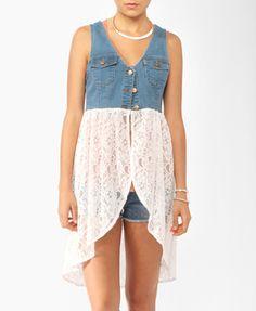 Denim & Lace Vest   FOREVER21 - 2000045412