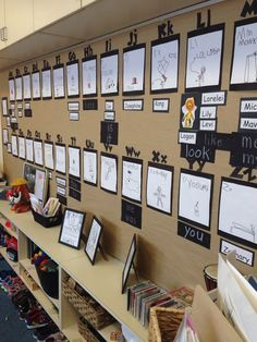 A stunning word wall made by children from Ms. Pliura! #ECE #literacy