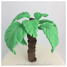 how to make fondant palm leaves