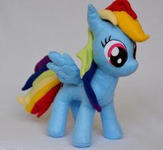 Mamãe fez pra mim - Blog sobre artesanato: My little pony- Raimbow dash em feltro