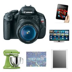 Giving away a lot of stuff right now . . . Canon Camera, Kitchen Aid Mixer, Flat Screen TV, 500 Dollar G.C. to Nordstrom, Kindle, and an iPad!