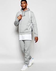 Lækre Nike Club Tracksuit Set 744852-063 - Grey Nike Joggers til Herrer til  hverdag