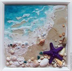 Купить или заказать «Морская волна» в интернет-магазине на Ярмарке Мастеров. Панно из ракушек и песка, привезенных с Черного моря, будет напоминать вам о теплых летних днях...:) Может стать прекрасным подарком себе или близким и знакомым.