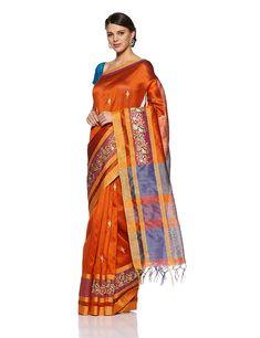 6532db4a729c1 Aalia Art Silk Embroidered Saree with Blouse piece (8812-Dark Mustard