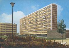 93 - Seine Saint Denis: La Courneuve to Saint Ouen Council Estate, Saint Ouen, Saint Denis, Architecture, Signage, Skyscraper, Saints, Multi Story Building, Cards