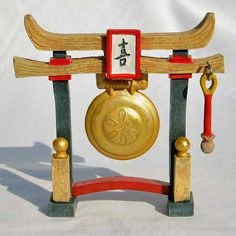Zen Gong Chime. www.teeliesfairygarden.com . . . Add appeal and authenticity to your meditative garden by having this wonderful Zen gong chime. #fairygong