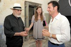 """Alcuni scatti dall'inaugurazione di """"Mediterraneo: incontri o conflitti?"""" a Palazzo Gargasole. Foto di Francesca Speranza. A sinistra l'artista Michelangelo Pistoletto."""