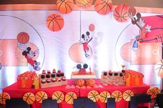 Mickey mouse   Basketball   Cupcakes   Gatorade   Party