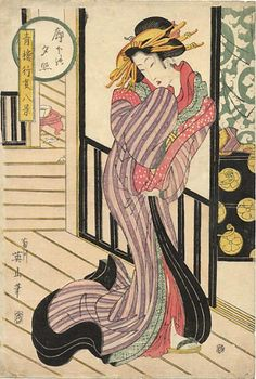 (Jaoan) by Kikugawa Eizan (1787- 1867). woodblock print. ukiyo-e.