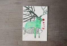 new years eve card New Years Eve, Moose Art, Unique Jewelry, Handmade Gifts, Illustration, Christmas, Cards, Etsy, Vintage