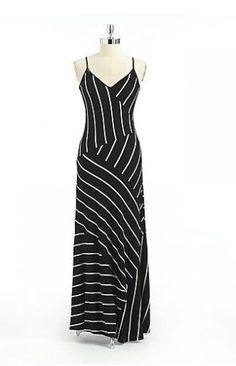 Calvin Klein Striped Maxi Dress  $79.20 at CalvinKlein.com
