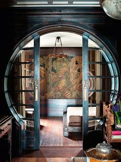 Art Deco Interior Moongate (Location unknown) via Art deco on FB.