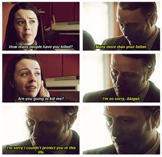 "Nicholas Boyle was more important for you gutting him. He changed you, Abigail. - Hannibal ""Releves"""