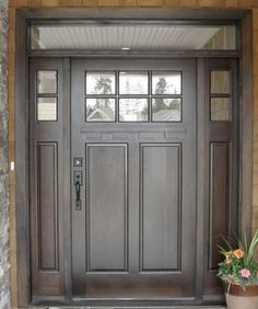 Mahogany Line - traditional - front doors - vancouver - Doorex without too window House, Traditional Front Doors, Craftsman Front Doors, House Front, Double Front Doors, House Doors, Exterior Front Doors, Doors Interior, Traditional Doors