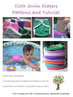 Reusable Cloth Swim Diaper PDF sewing pattern by Kelly824 on Etsy, $6.00