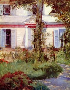 EDOUARD MANET  A House in Rueil (1882)