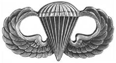 My dad seemed to think about the war more when he was older, and always wore one of these paratrooper pins on whatever cap he was wearing at the time.