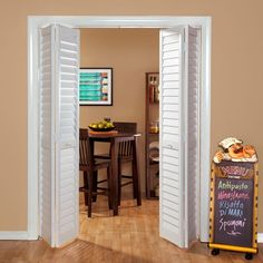 Kimberly bay 36 in x 80 in 36 in plantation louvered for Interior swinging doors home depot