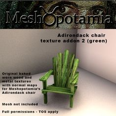 This texture addon kit consists of 1 baked original wood texture, 1 baked original metal texture and 2 baked normal maps. Normal Map, Metal Texture, Wood And Metal, How To Apply, Green, Outdoor, Outdoors, Outdoor Living, Garden
