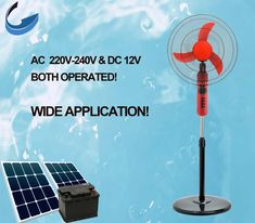 Air cooling appliance 16 inch electric AC/DC stand fan Solar Fan, Stand Fan, Ac Dc, Appliance, Ceiling Fan, Electric, Brickwork, Ceiling Fan Pulls, Ceiling Fans
