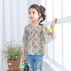 Find More Tees Information about Cotton Kids Girls Shivering Shirt  2016 New Fashion Spring Summer Baby Children Girls Casual half  Sleeve Tops,High Quality doll black,China doll star Suppliers, Cheap garment cad from Seanna on Aliexpress.com