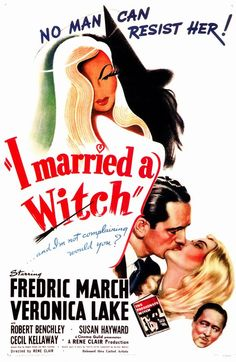 """I Married a Witch 11x17 Movie Poster (1942)(The movie which the popular TV show """"Bewitched"""" was based on.:*-) )"""